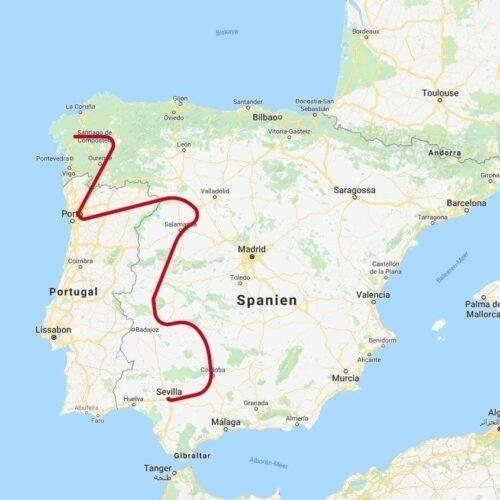 1300km quer durch Spanien und Portugal führte die Reise zu den Reitequipment Herstellern.